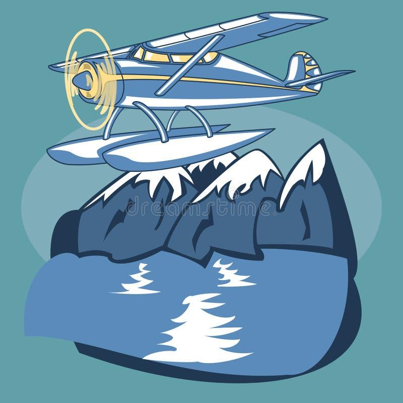 Overzees Vliegtuig vector illustratie