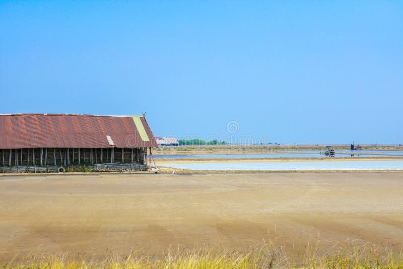 Overzees zout landbouwbedrijf stock fotografie