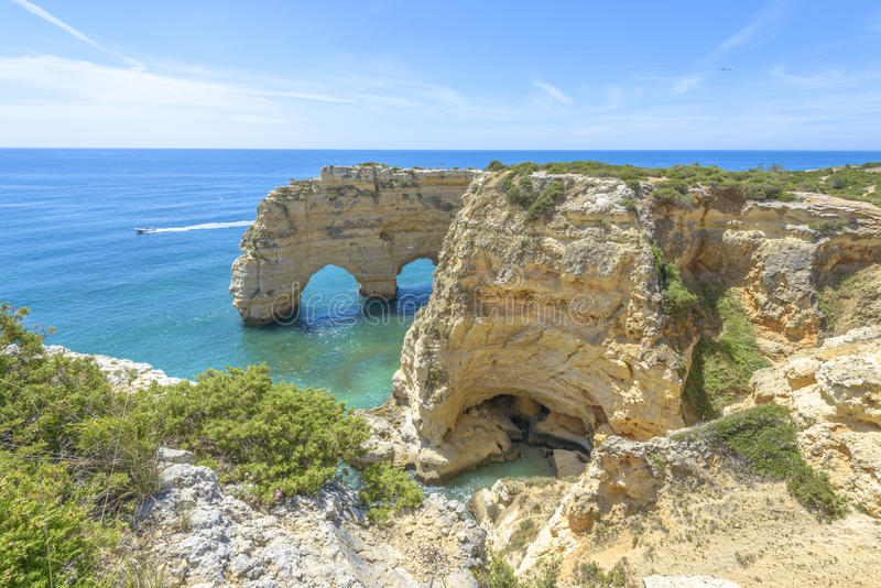 Overzeese Boog in Algarve, Portugal stock fotografie