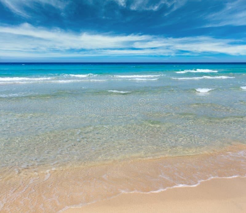 Overzeese branding op strand stock foto's
