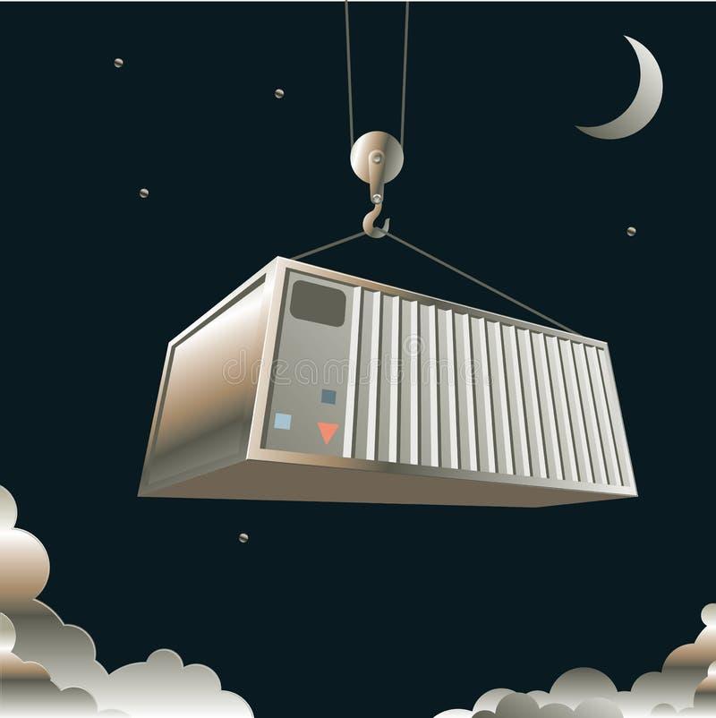 Overzeese container royalty-vrije illustratie