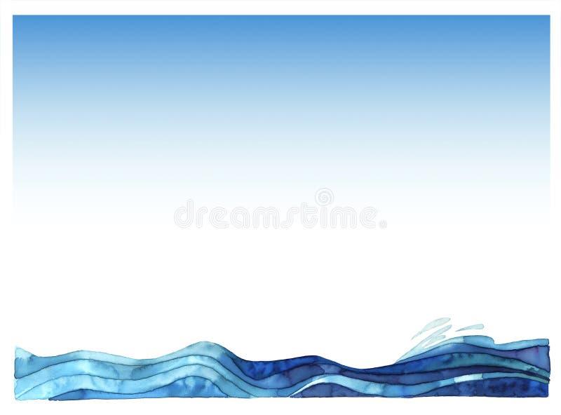 Overzeese golven royalty-vrije illustratie