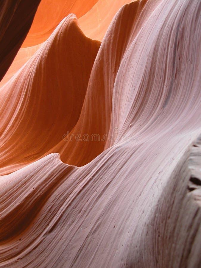 Overzeese golven van zandsteen stock fotografie