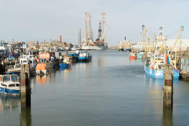 Overzeese haven IJmuiden stock afbeeldingen