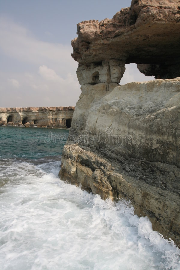 Overzeese holen in Cyprus royalty-vrije stock foto's