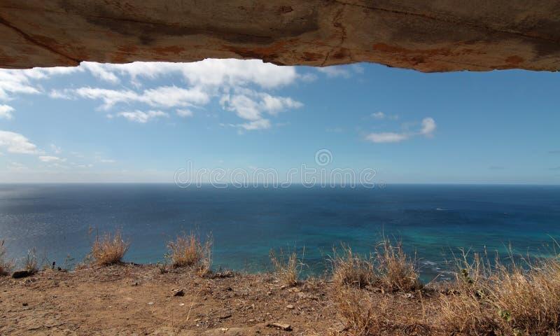Overzeese Horizon van Bunker royalty-vrije stock afbeelding