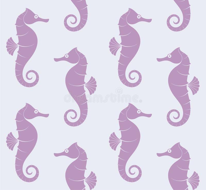 Overzeese Horse Patroon vector illustratie