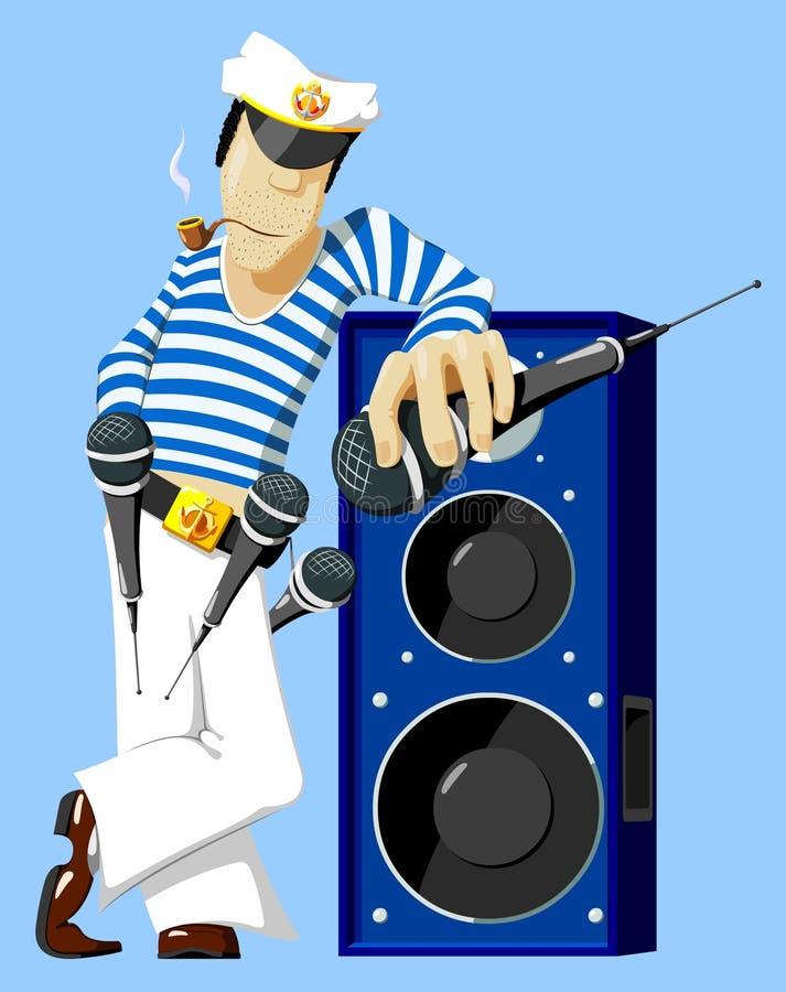 Overzeese karaoke vector illustratie