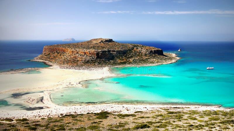 Overzeese Klippen, de Stranden van het Kustlandschap, Griekse Eilanden, Kreta, royalty-vrije stock foto