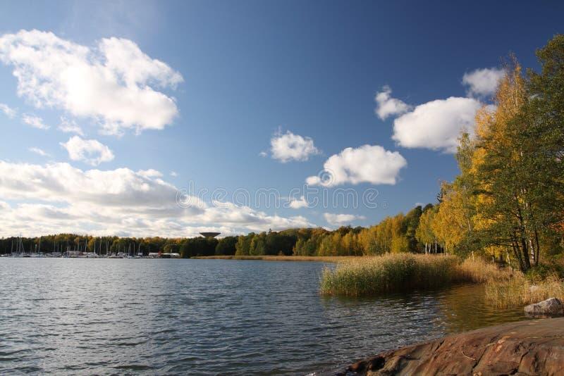 Overzeese kust in Finland stock foto