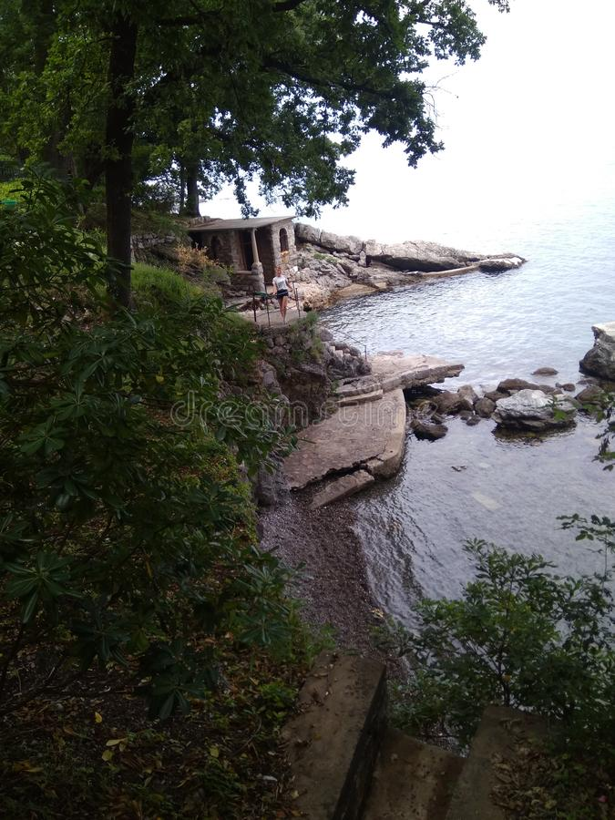 Overzeese kust, Kroatië stock afbeelding