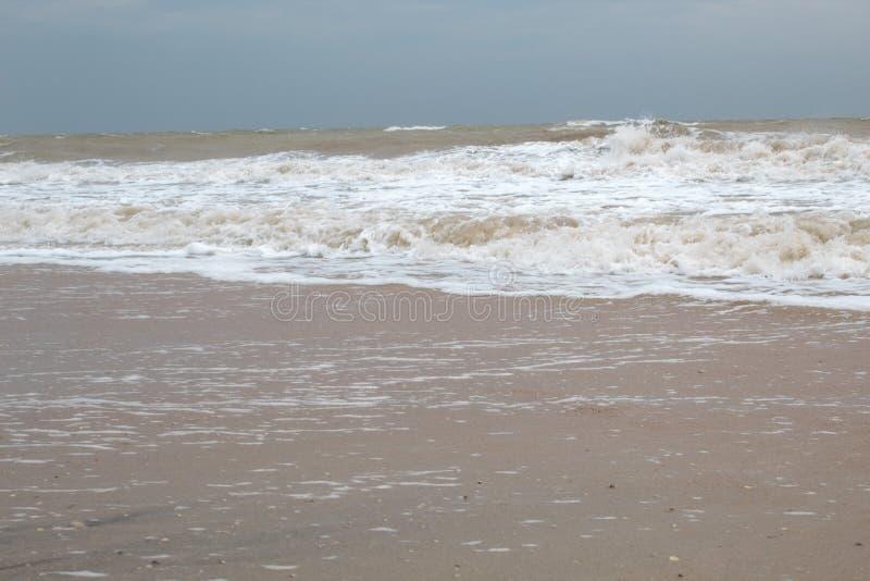 Overzeese kust Mening van hierboven Strand Overzees van Azov stock fotografie