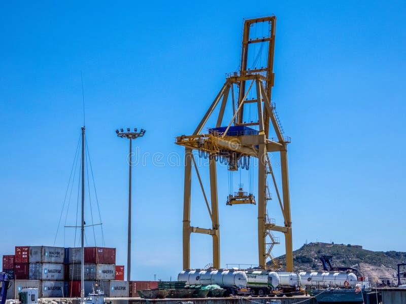 Overzeese ladingshaven Cartagena, Spanje royalty-vrije stock fotografie