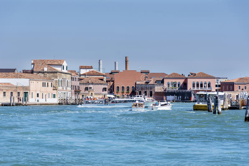Overzeese mening van Venetië, Italië stock fotografie