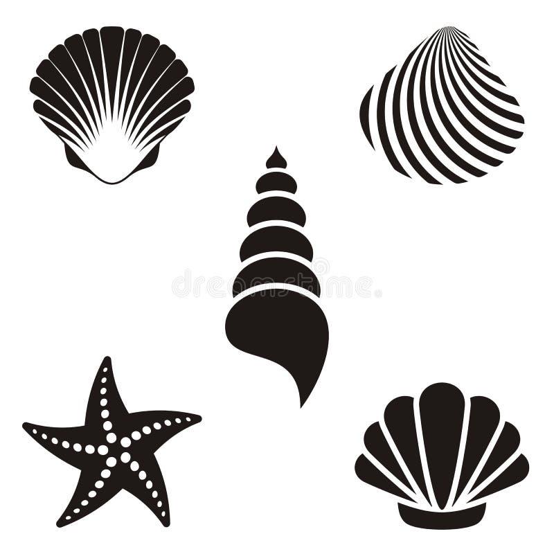 Overzeese shells stock illustratie