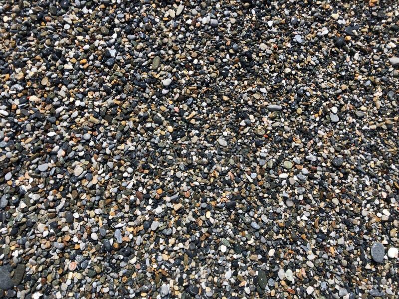 Overzeese stenen en kiezelstenen royalty-vrije stock afbeelding