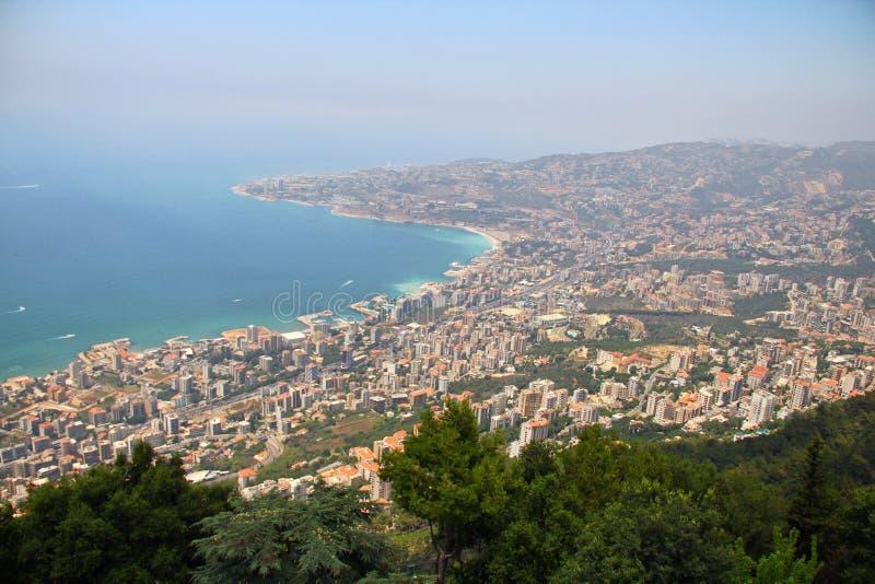 Overzeese van Libanon kust stock foto