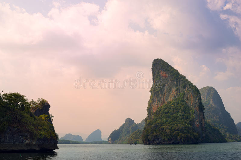 Overzeese van Phangngathailand Hemel royalty-vrije stock fotografie