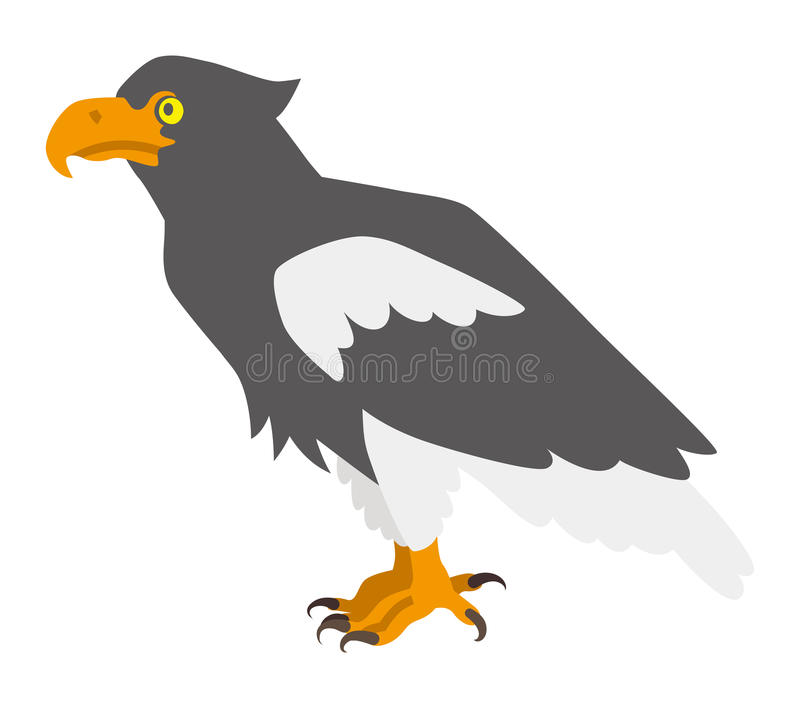 Overzeese van Steller adelaar royalty-vrije illustratie