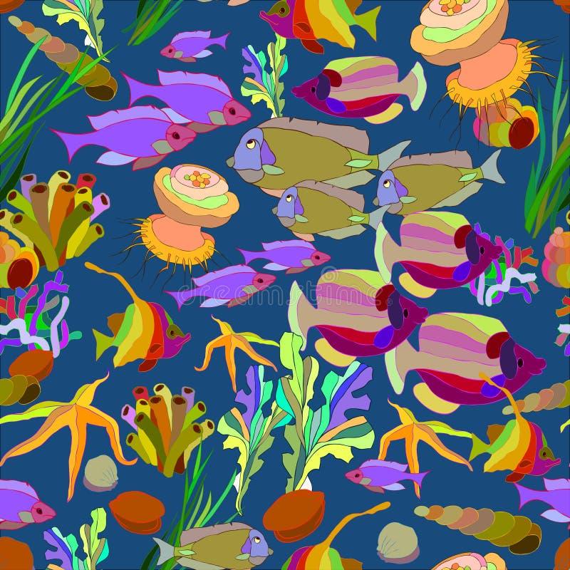Overzeese vissen stock foto