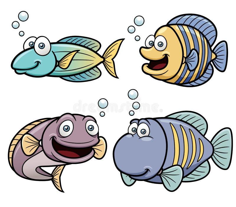 Overzeese vissenreeks royalty-vrije illustratie