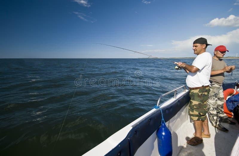 Overzeese visserij. stock afbeeldingen