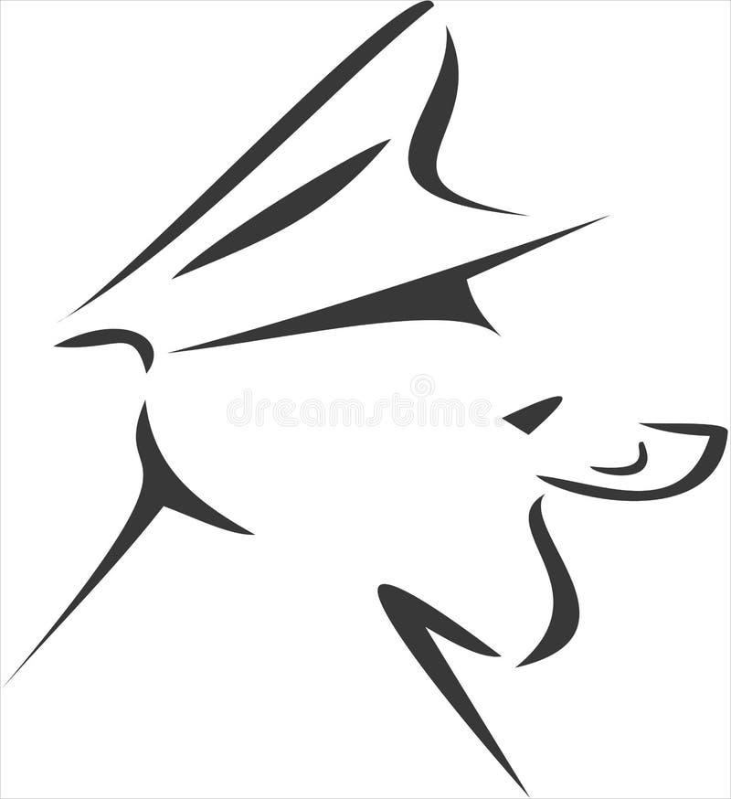 Overzeese Wolf royalty-vrije illustratie