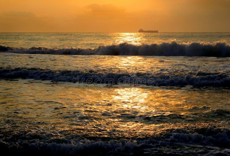 Overzeese zonsopgang royalty-vrije stock foto's