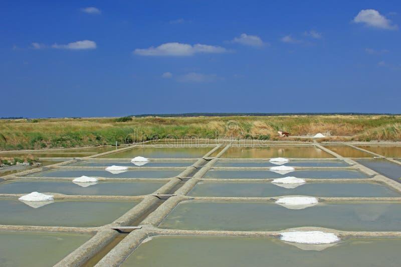 Overzeese zoute productie, Frankrijk stock foto's