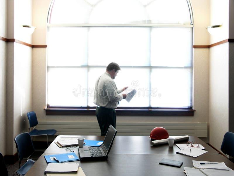 Overzicht op vergadering stock foto