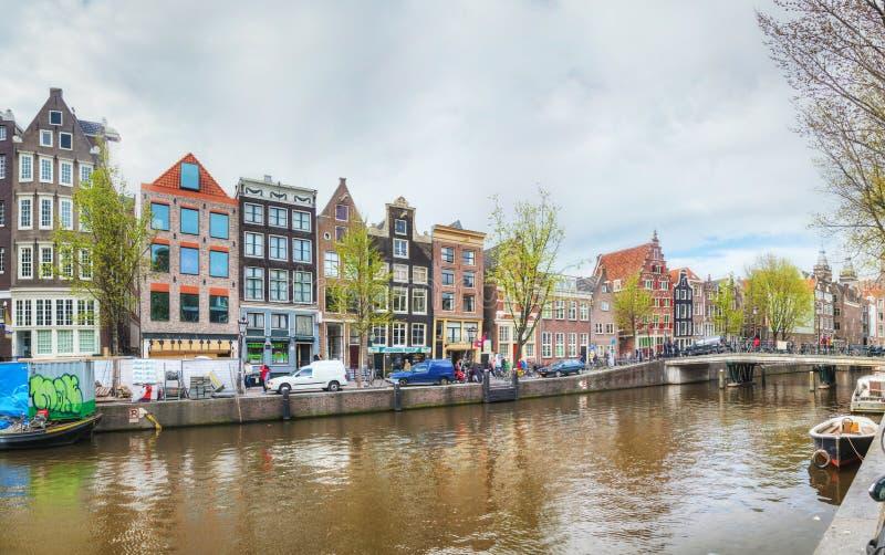 Overzicht van Amsterdam, Nederland royalty-vrije stock afbeeldingen