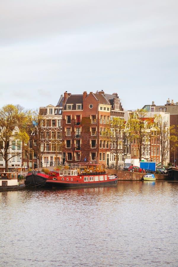 Overzicht van Amsterdam, Nederland stock afbeelding