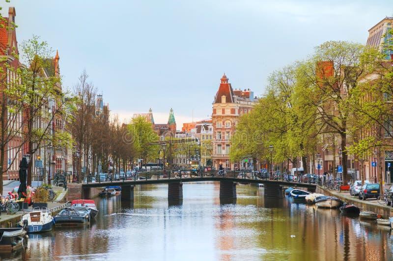 Overzicht van Amsterdam, Nederland stock afbeeldingen