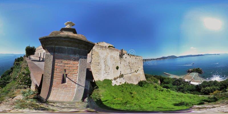 overzicht 360 van de kasteelwacht van Baia-Kasteel royalty-vrije stock foto's
