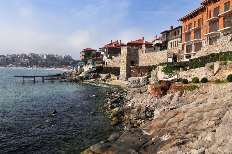 Overzicht van de stad van Sozopol, Bulgarije royalty-vrije stock foto