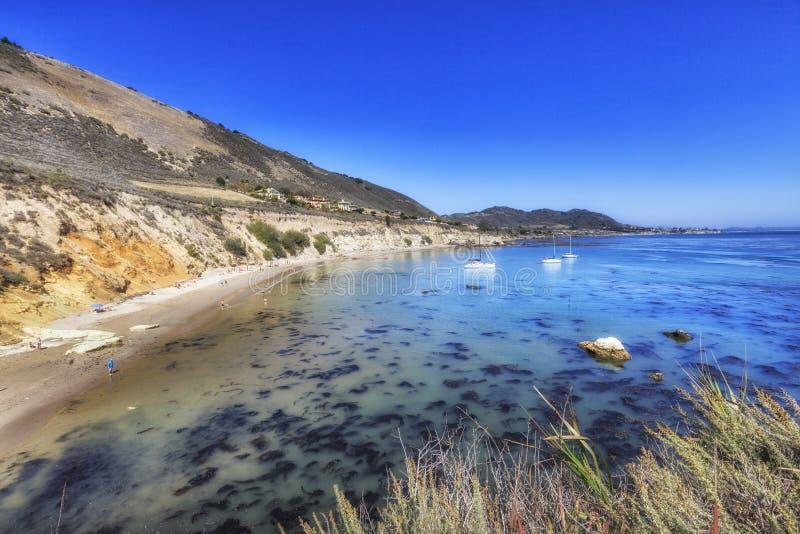 Overzicht van het strand van de Pirateninham, Californië, de V.S. royalty-vrije stock fotografie