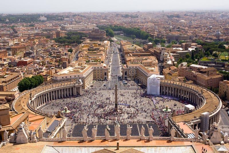 Overzicht van Piazza van San Pietro royalty-vrije stock afbeelding