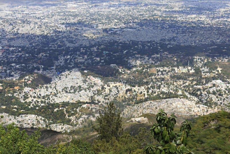 Overzicht van Port-au-Prince stock fotografie
