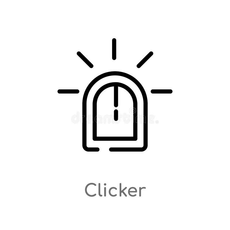 overzichts clicker vectorpictogram de geïsoleerde zwarte eenvoudige illustratie van het lijnelement van curseurconcept editable v stock illustratie