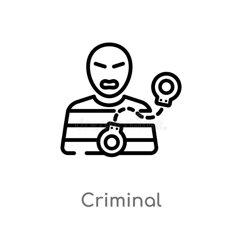overzichts misdadig vectorpictogram r Editable vectorslag royalty-vrije illustratie