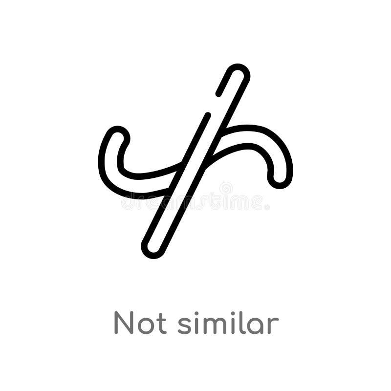 overzichts niet gelijkaardig vectorpictogram de geïsoleerde zwarte eenvoudige illustratie van het lijnelement van tekensconcept e vector illustratie