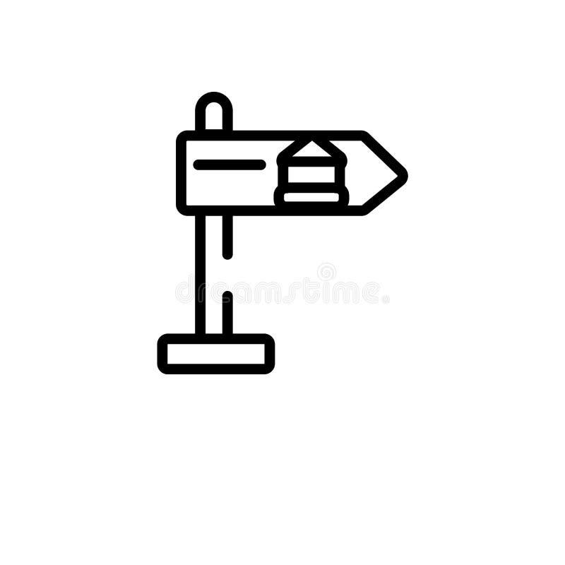 overzichts vectorpictogram de ge?soleerde zwarte eenvoudige illustratie van het lijnelement van museumconcept editable vectorslag stock illustratie