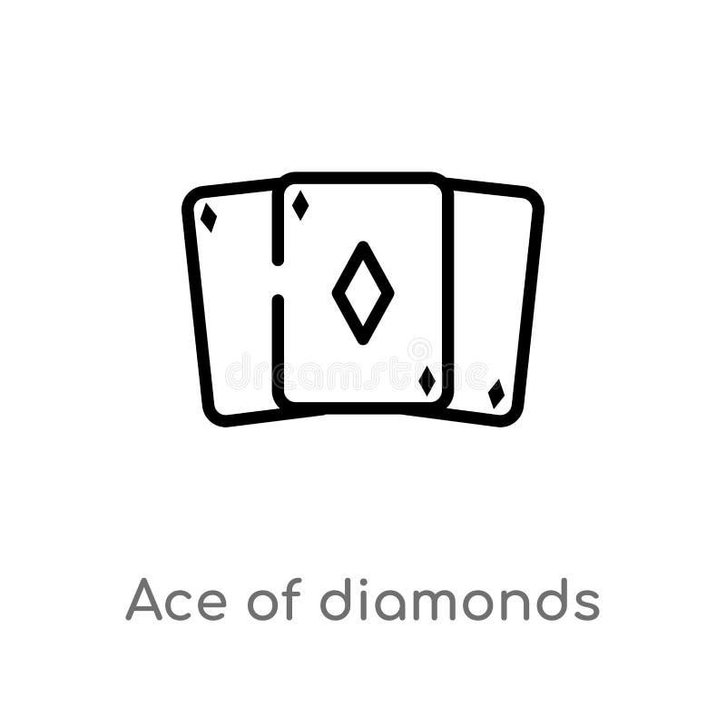 overzichtsaas van diamanten vectorpictogram de geïsoleerde zwarte eenvoudige illustratie van het lijnelement van vermaakconcept E royalty-vrije illustratie