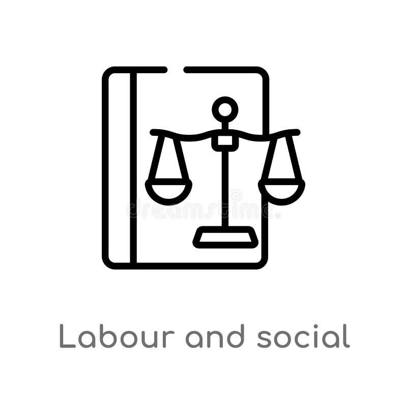 overzichtsarbeid en sociaal wets vectorpictogram r editable vector illustratie