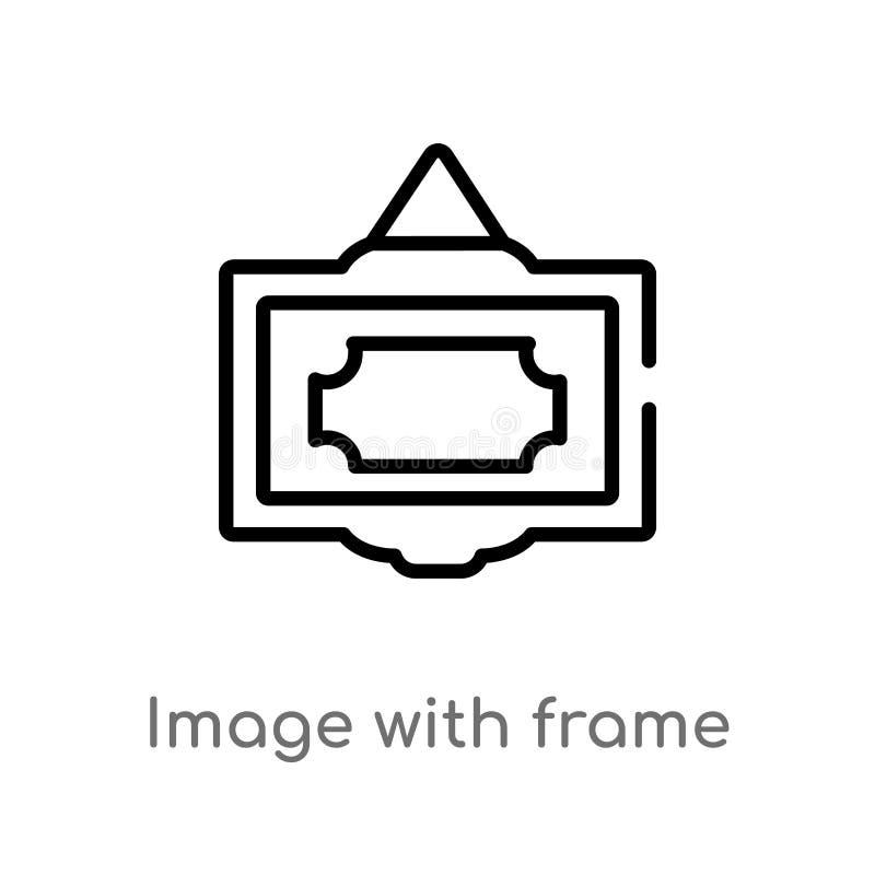 overzichtsbeeld met kader vectorpictogram r Editablevector stock illustratie