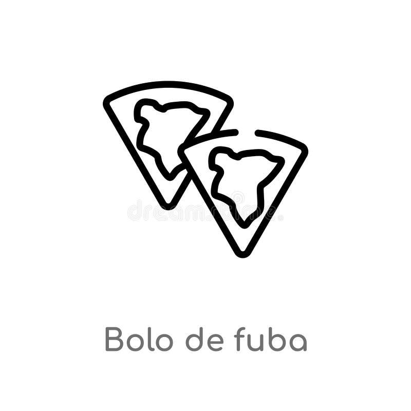 overzichtsbolo DE fuba vectorpictogram de ge?soleerde zwarte eenvoudige illustratie van het lijnelement van culturenconcept Edita vector illustratie