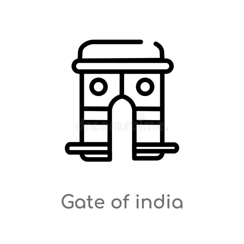 overzichtspoort van het vectorpictogram van India r r royalty-vrije illustratie