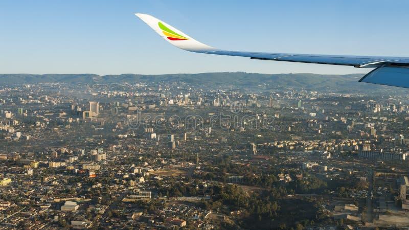 Overzie Addis Ababa stock afbeeldingen