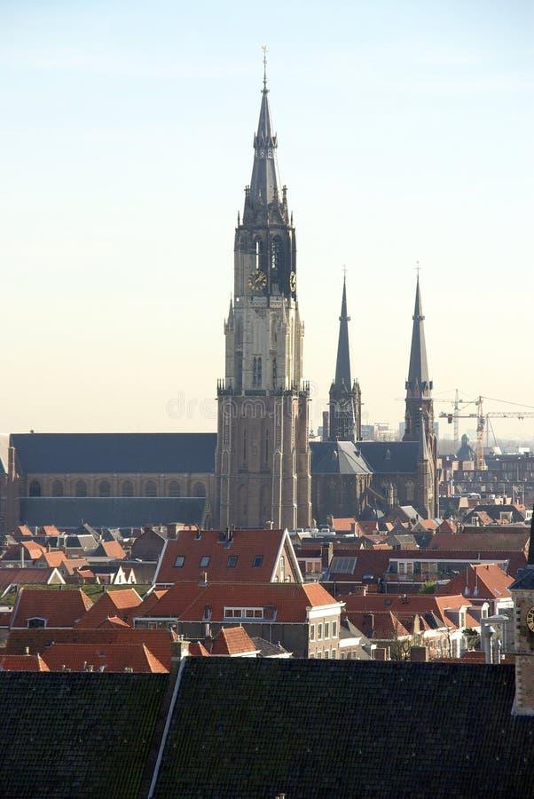 Overzie in Delft, Nederland stock fotografie