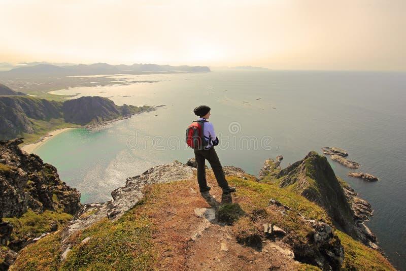 Overziend de oceaan - Noorwegen stock afbeelding